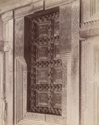 Close view of east door of Ibrahim Rauza Tomb, Bijapur.